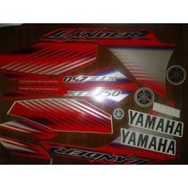 Jogo Adesivo Xtz 250 Lander 09 Vermelho Frete Gratis - Lbm