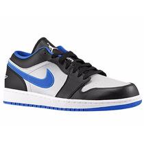 Tênis Nike Air Jordan 1 Low Blue Basketball, Pronta Entrega.
