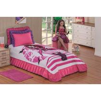 Kit Cobre Leito Solteiro Colcha Monster High Infantil Pink