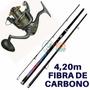 Kit Pesca Praia Vara Maruri Carbono 4,20m + Molinete 6000