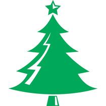 Adesivo Decorativo De Parede - Árvore De Natal 1 Rosa Carmim