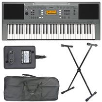 Teclado Musical Arranjador Yamaha Psre353 Suporte+capa+fonte
