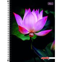 Caderno Flex 10 Matérias 200 Fls Mais+ Feminino Lotus