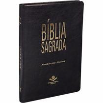 Bíblia Almeida Revista E Atualizada Ultrafina Luxo Preta
