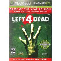 Left 4 Dead Platinum Hits Xbox 360 Mídia Física Lacrado