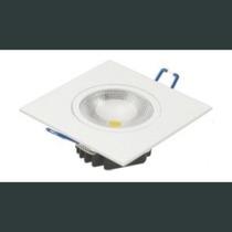 Kit 5 Lampada Led 5w Branco Frio Spot Quadrado 2069b Bivolt