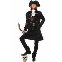 Fantasia Pirata Luxo - Grátis Chapéu - Exclusivo - Promoção