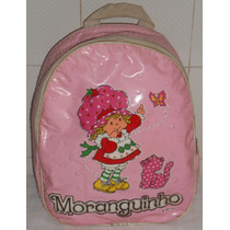Moranguinho Mochila Antiga 1987 Mede 35x28x10cm Alça Reguláv