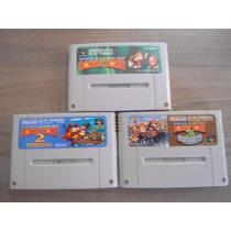 Trilogia Donkey Kong Dk1 Dk 2 Dk3 - Japoneses Originais Snes