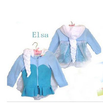 Blusa Frozen Elsa Ana Capa E Touca Festa Importada