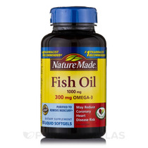 Fish Oil 1000 Mg Omega-3 300 Mg - 90 Cápsulas Por Nature Ma