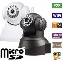 Camera Ip/network Wireless Wi-fi P2p Visão Noturna Bran/pret