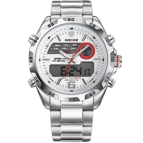 37f142fd99c Relógio Masculino Weide Anadigi Wh-3403 Pr-br