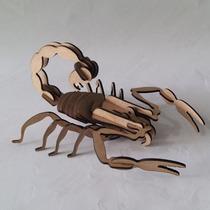 Quebra Cabeça 3d - Coleção Insetos - Escorpião Mdf