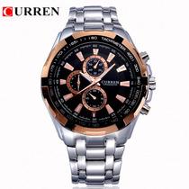 Relógio Masculino De Luxo - Marca Curren - Frete Grátis
