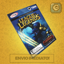 League Of Legends Lol - Cartão 1200 Riot Points Rp Br Brasil