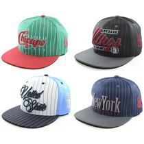Boné Snapback Aba Reta Basquete Classic Hats Diversos Giz