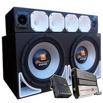 Caixa Trio Sub Jbl Tornado 15 + D200 St200 Modulos 3000+400w