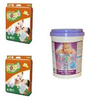 Fralda Hipopó Baby-160 Fraldas Tam. M+400 Lenços Umedecidos