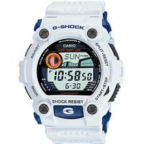 Casio G-shock G 7900-7 Branco Marés Fases Da Lua Original