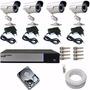 Sistema De Vigilância Kit 4 Cam Infra Dvr Luxvision Ahd