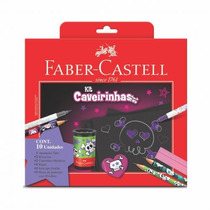 Kit Escolar Caveirinhas Com 10 Unidades Faber Castell