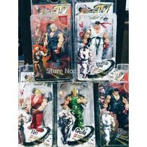 Street Fighter Iv Survival Modelo Ken Ryu Guile 18 Cm Neca.