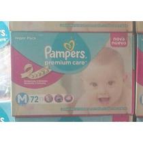 Fraldas Pampers Premium Care - Tamanho M C/ 72un. R$59,90!