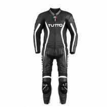 Macacão Tutto Moto Racing Men 2 Peças Preto / Branco