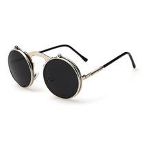 Óculos Sol Redondo Circular Vintage Lente Dupla High Quality