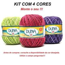 Kit 4 Linhas Duna Círculo Crochê / Tricô - Novelo 170m
