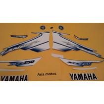 Kit Jogo Adesivo Yamaha Lander Xtz 250 2007 Azul