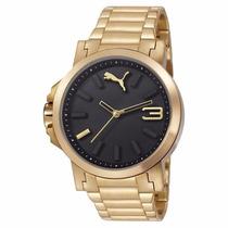 Pulseira Dourada Relógio Puma 96217gppmda2