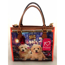 Bolsa Feminina Luxo Grande Cachorro Poodle Original Rafitthy