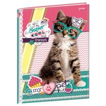 Caderno Brochura 1/4 96 Folhas Capa Dura Jandaia - My Pet 02