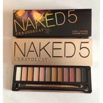 Paleta Sombras Naked 5 Pronta Entrega + Pincel Shadow Brush