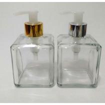 30 Vidro Cubo 250ml Com Válvula Sabonete Luxo