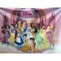 Princesas,minnie E Frozen Painel Em Lona Semi-brilho E Fosco