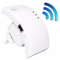Amplificador Repetidor Sinal Wifi 300mbps Botão Wps 2 Antena
