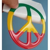 Adesivo Reagge Alto Relevo Simbolo Da Paz Moto Vidro Carro