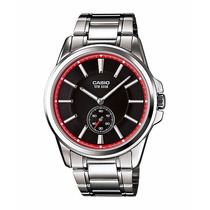 Relógio Casio Mtp-e101 D-1a2v Social Aço Wr-50m Pv