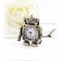 Relógio Colar Robô