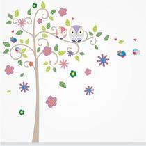 Adesivo Decorativo De Parede Infantil Árvore Encantada Tam P