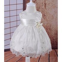 Vestido Bebê Batizado Daminha Pronta Entrega