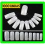 1000 Tips Unha Postiça P/ Gel Acrigel Acrilico Natural Nail