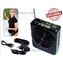 Microfone Kit Professor Entrada Usb Sd Fm Falante Externo