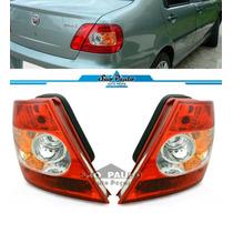 Par Lanterna Traseira Fiat Siena 2004 Até 2008