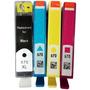 4 Cartuchos 670 1 Preto Xl Compativel 3 Color Renew Recartec