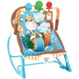 Cadeira Musical Fisher-price P/ Bebês - Safari Azul Claro