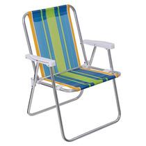 Conjunto C/ 06 Cadeiras Alta Em Aluminio Mor Cores Sortidas